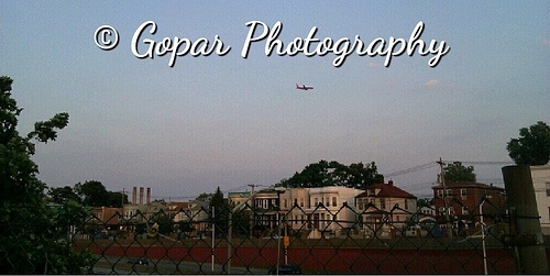 View Of A Plane From Castle Hill Bronx NY