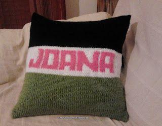 """Os meus artigos de tricot (e desabafos de mãe): Almofada """"Joana"""""""