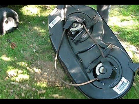 How To Replace The Deck Belt On An Mtd Riding Mower Riding Mower Riding Deck