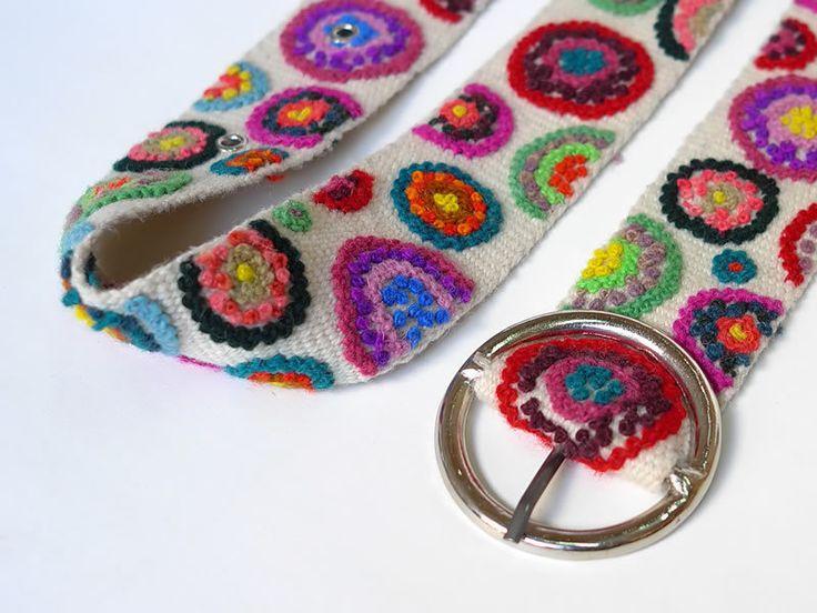 Cintura tessuto peru floreale di Sumaq su DaWanda.com