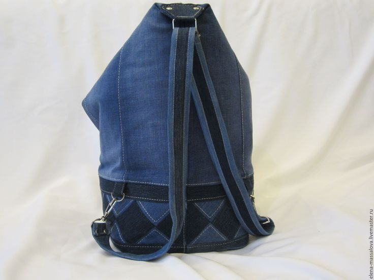 """Купить Джинсовая сумка-рюкзак """"ТРАНСФОРМЕР"""" - комбинированный, орнамент, рюкзак трансформер, подарок девушке"""