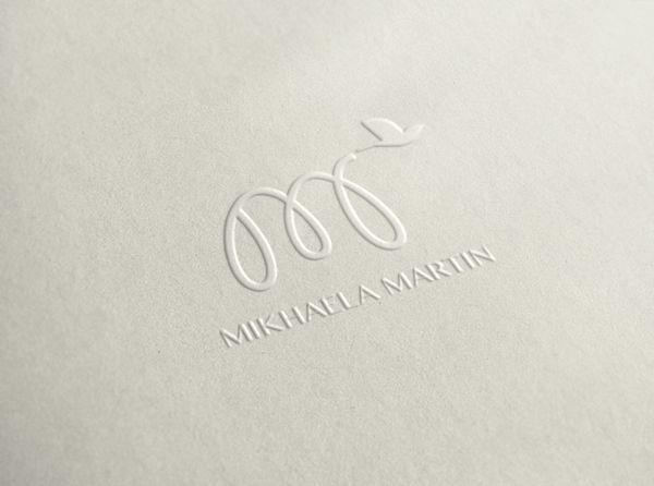 Personal logo by Mikhaela Martin, via Behance
