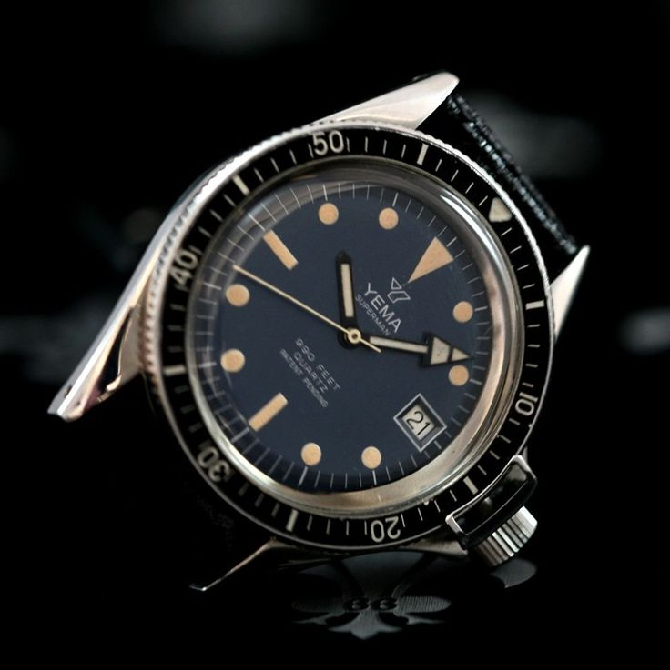 1978 yema france superman 990ft diving watch ref 270016 esa cal 944 111 yema superman for Watches of france