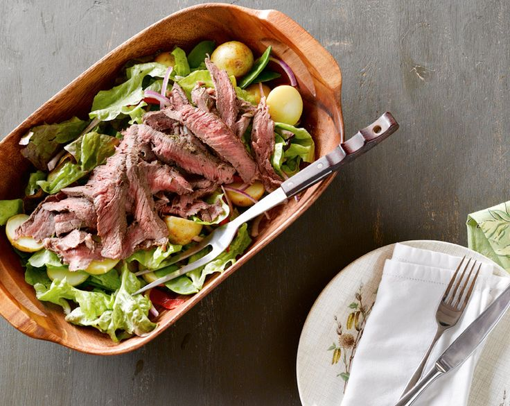 Rosemary Seared Steak and Warm Potato Salad Recipe | beef   lamb new zealand inc