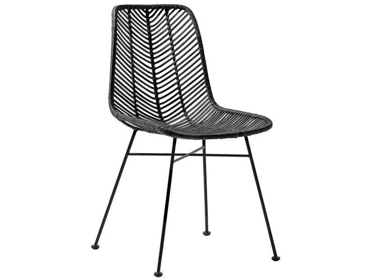 Krzesło Rattan I Czarne 4