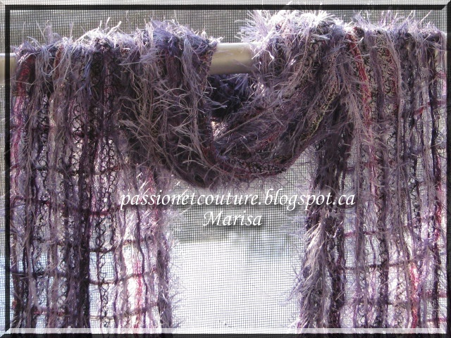 My scarf for the challenge, Marisa from Passion et Couture.( tutorial)