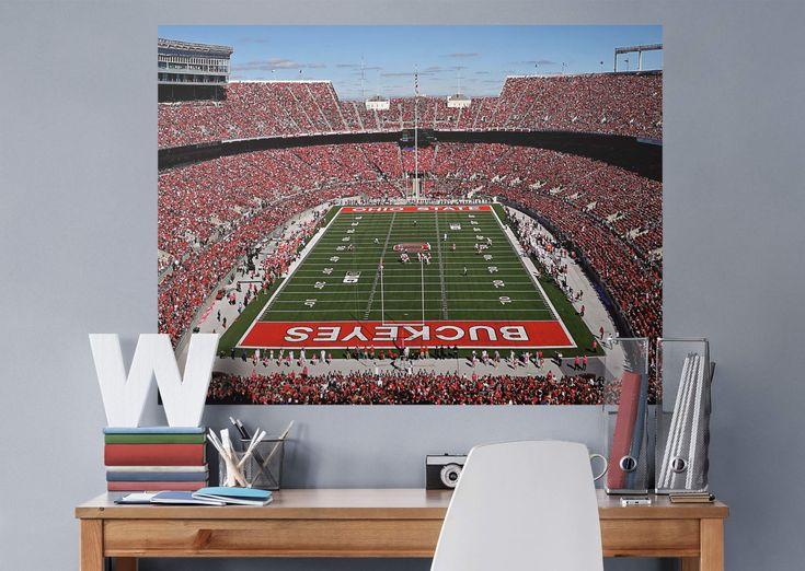 Ohio State Buckeyes - Ohio Stadium Endzone View Fathead Wall Mural