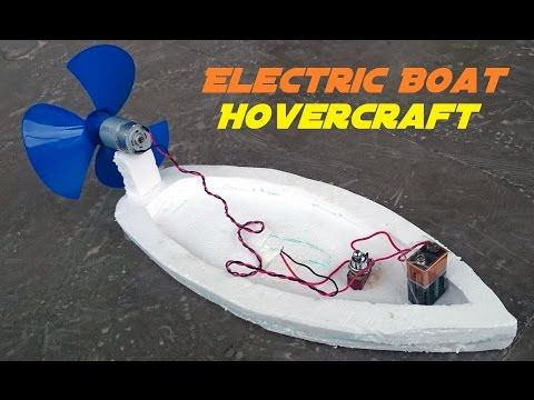 How to Make an Electric Boat - Hovercraft - Easy Way - YouTube