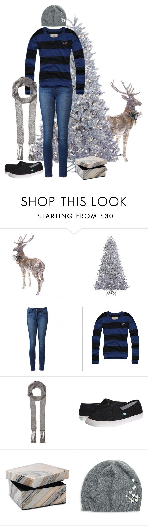 """""""A Touch of Silver"""" by underwater-city ❤ liked on Polyvore featuring Sterling, Paige Denim, Hollister Co., Missoni, Roxy, Mitchell Gold + Bob Williams and Portolano"""