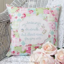 Shabby 'faux' patchwork tutorial