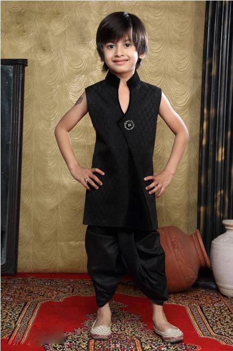 Black Brocade Readymade Dhoti Kurta @ $50.34 | Shop Now @ http://www.utsavfashion.com/store/item.aspx?icode=ugk3