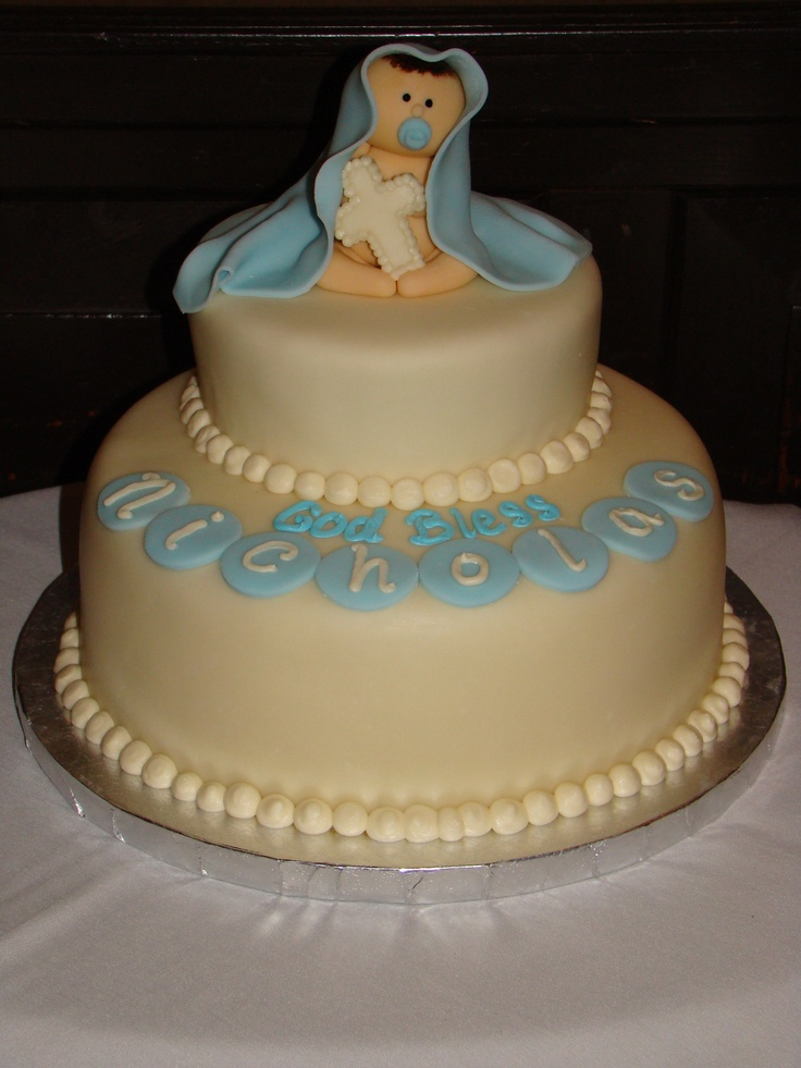 Christening Cake Designs For Baby Boy : 17 best Batizado menino images on Pinterest Baptism ...
