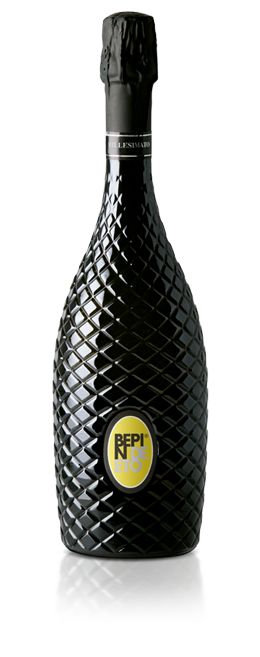 Bepin de Eto | PROSECCO CONEGLIANO VALDOBBIADENE EXTRA DRY MILLESIMATO  A pale yellow sparkling wine with subtle hints of emerald, compellingly luminous, with a near-endless bead of the tiniest bubbles. Apple, pear, and peach emerge on the nose, lifted by delicate floral notes of rose petals and acacia blossoms, plus a finish ennobled with a hint of fresh greens.