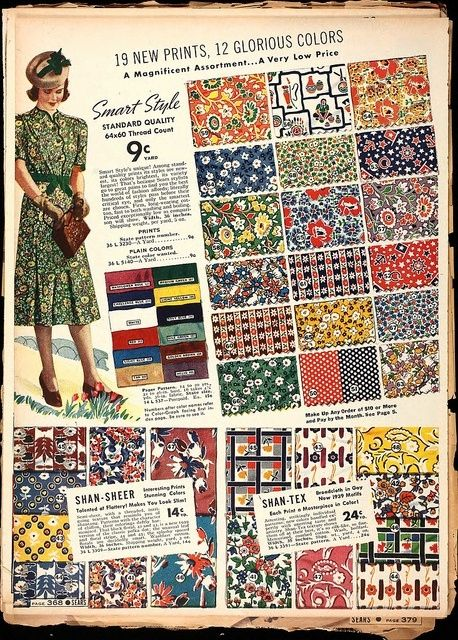 1930's Fabric patterns