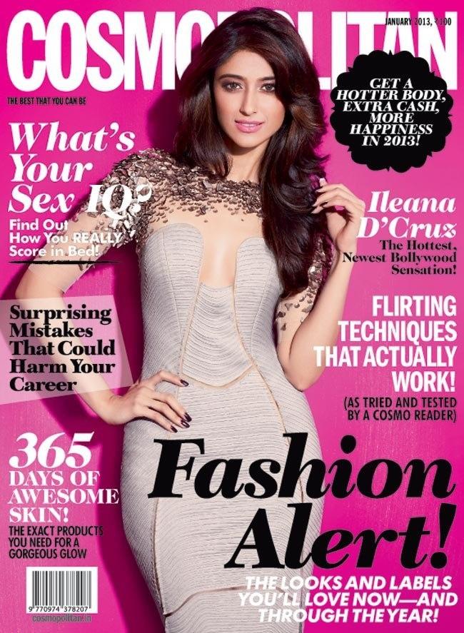 Ileana D'Cruz on The Cover of Cosmopolitan Magazine – January 2013.