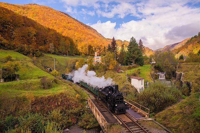 Rack steam locomotive between Tisovec and Pohronská Polhora in Slovakia. Photo by @michalvphoto #pureslovakia