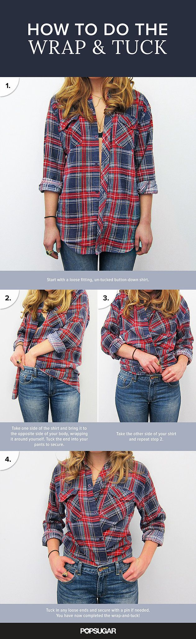 Flannel shirt knot   best images about  on Pinterest