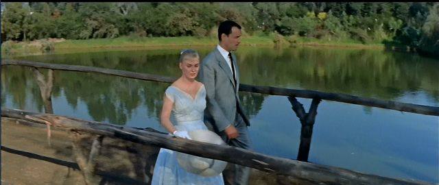 The Long, Hot Summer (1958)-  Joanne Woodward plays Clara, the lady who would like to marry, but not to just anyone. Here she's about to define the relationship with her beau Alan (Richard Anderson) and make him pop the question or not. Are they on a bridge of no return?