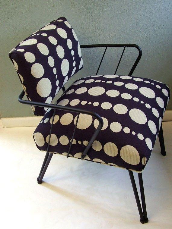 mid century metal chair-
