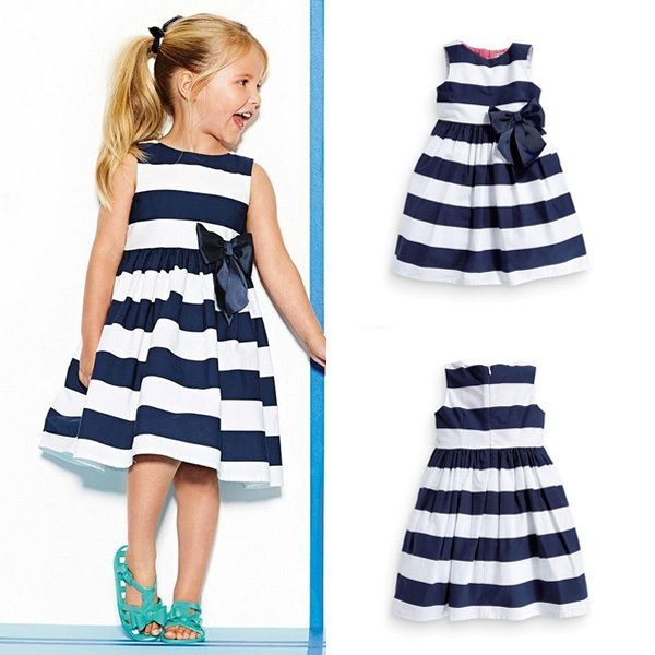 Cheap dress jones, Buy Quality dress hanger directly from China dress shirts for men cheap Suppliers:  Baby Kid Girls Sleeveless One Piece Dress Blue Striped Bowknot Skirts Tutu Dress1 2 3 4 5Years 100% Brand New and