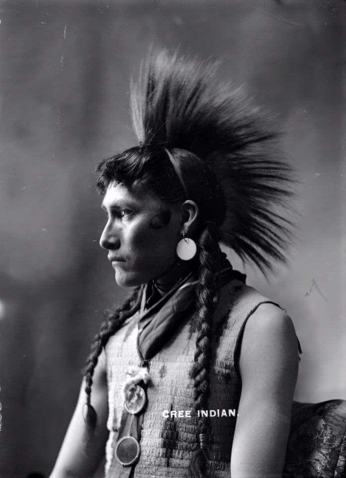 Индеец кри. Альберта, Канада. 1900