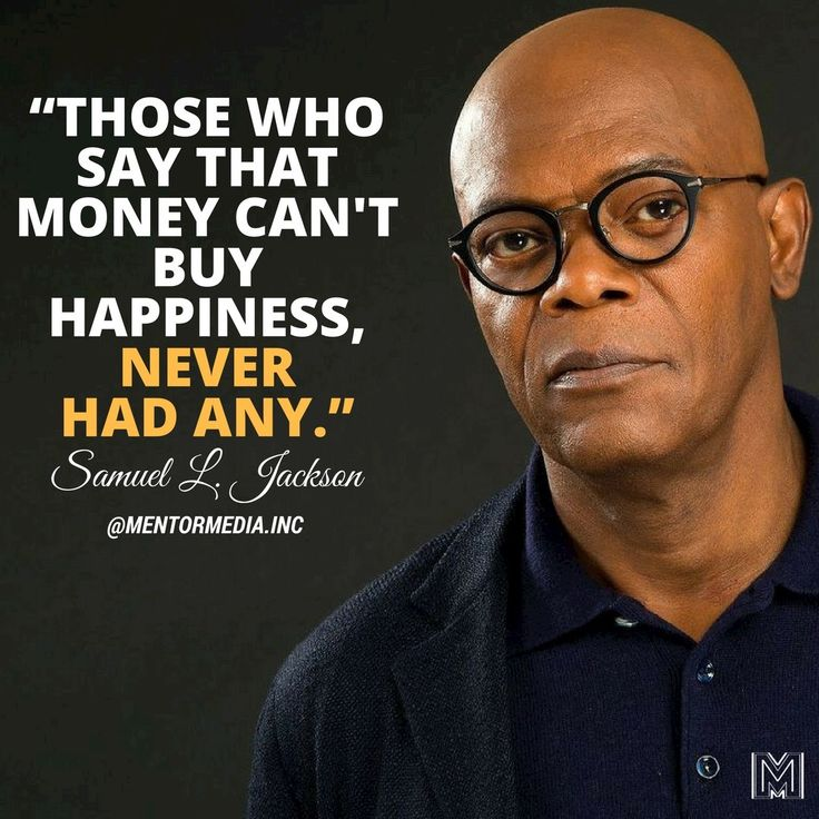 """mentormedia.incCan Money Buy Happiness? Yes, Through Giving.🌱 """"Those who say that money can't buy happiness, never had any."""" -Samuel L. Jackson • 👉Follow 