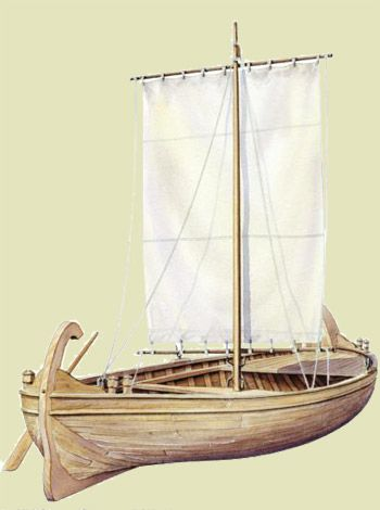 graphic of Galilean fishing boat