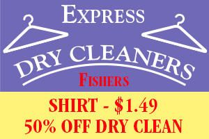 New Customer Special from Express Dry Cleaners .