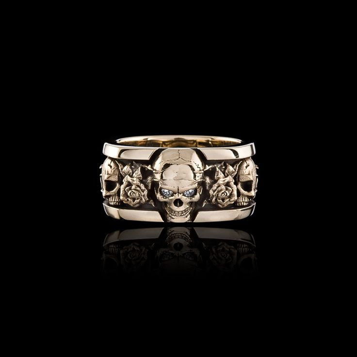 Roses Band - Jawbone Collection | NightRider Jewelry