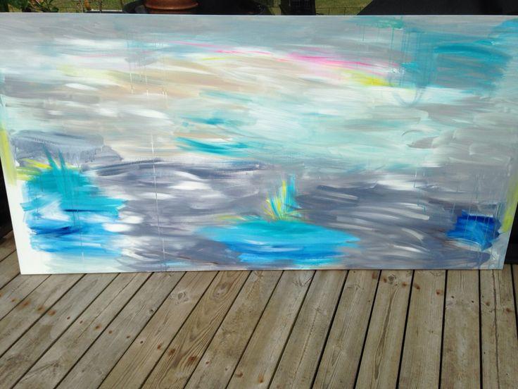 Ny bund på vej til et maleri der er 1m x 2 meter.