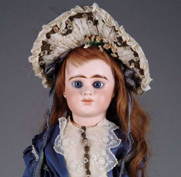 Denamur Etienne Dolls Baby doll, blue paperweight eyes with mauve eye