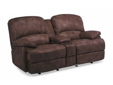 Shop For Flexsteel Leather Power Chaise Reclining Loveseat With Console,  And Other Living Room Two Cushion Loveseats At Quality Furniture In  Murfreesboro, ...