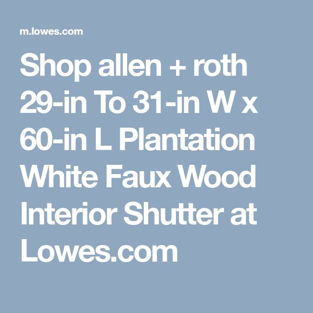 Shop Allen + Roth 29 In To 31 In W X 60 In