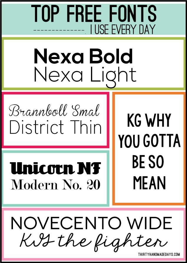 Top Free Fonts I Use Every Day!