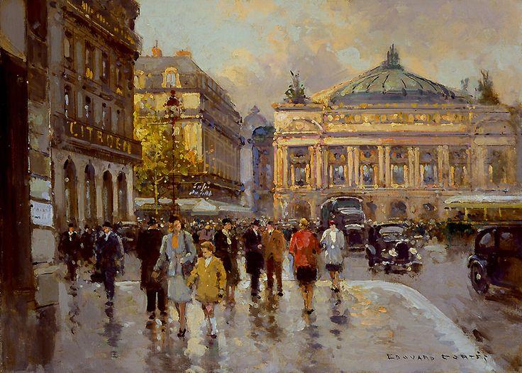 Edouard Leon Cortes Рlace de  l'Opera