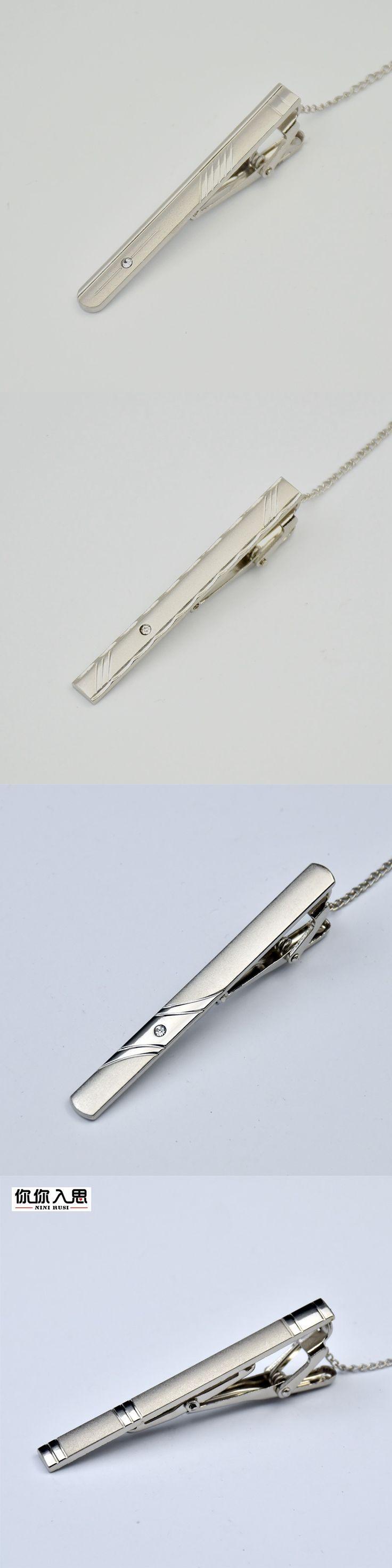 2016 New High quality Tie Bar Wood For Men's Tie clips High-grade hedgehog sandalwood Mens Business Wedding Tie Clip&Cuff links