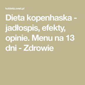 Dieta Kopenhaska Jadlospis Efekty Opinie Menu Na 13 Dni