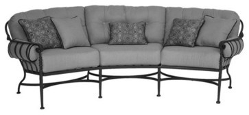 Meadowcraft Athens Deep Seating Crescent Sofa - traditional - outdoor sofas - Hayneedle