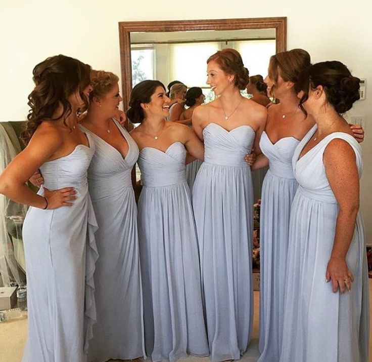 More blue, less gray color option for bridesmaids?