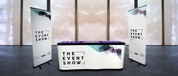 Be prepared for any exhibition and expo. Table, vinyl valance and pull-up banners. Order yours today!