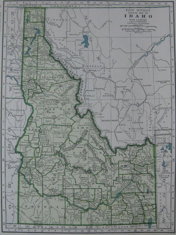 Best Idaho Symbols Images On Pinterest Idaho Facts About And - United states map idaho