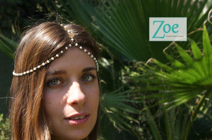 #ElTocadoPerfecto #Novias #Peinado #Tocado #Matrimonio #Detalle #ZoeNovias #ZoeTocados #Cadena #Perlas #HippieChic