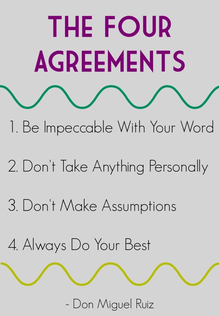 Best Four Agreements Images On   Wise Words