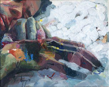 """Saatchi+Online+Artist+David+Agenjo;+Painting,+""""Hands-on+III""""+#art"""