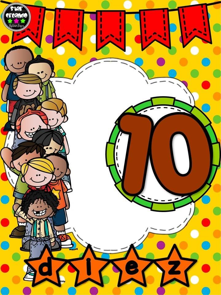 Números del 1 al 10 ~ Imágenes Creativas