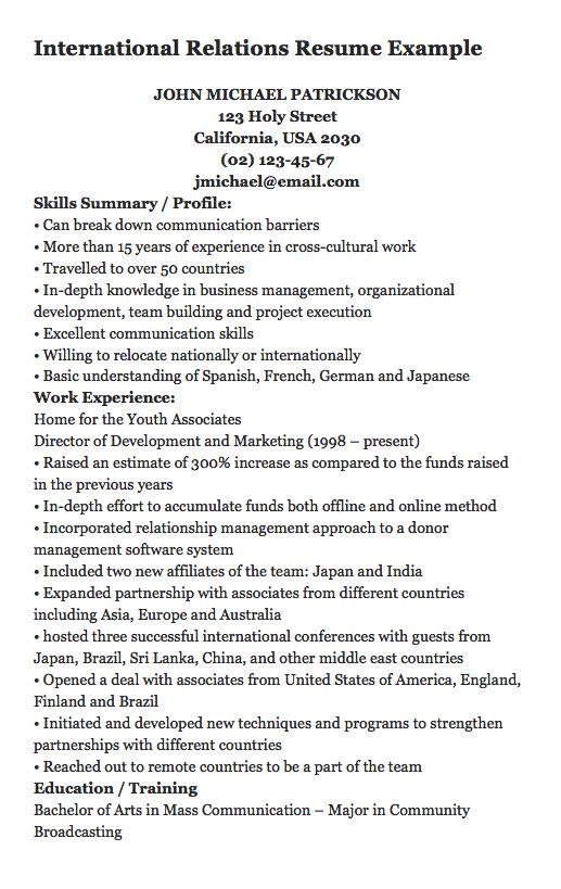 1902 best FREE RESUME SAMPLE images on Pinterest Free resume - country representative sample resume