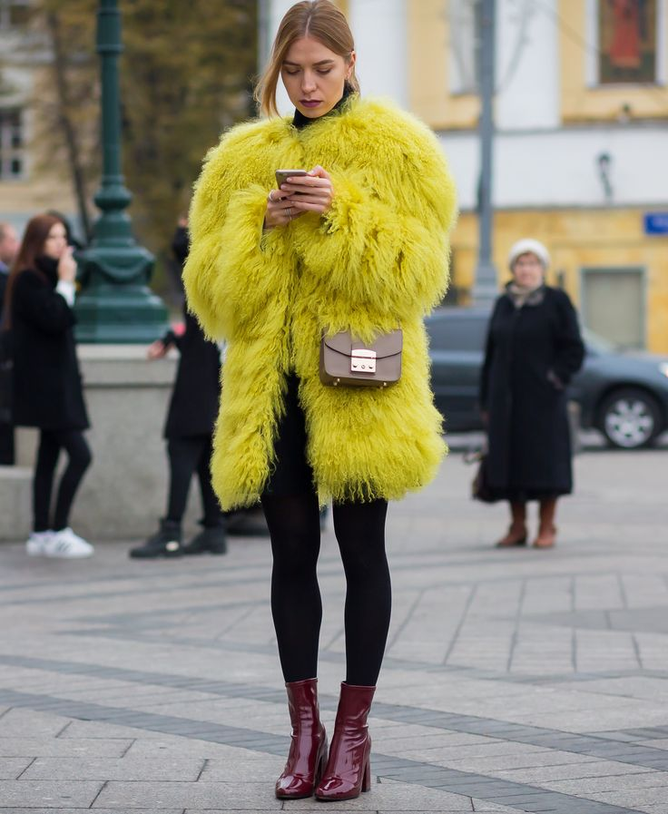 Russia street style | #streetstyle #fashion #trends2015 #fashionstyle   http://www.bykoket.com/inspirations/category/trends/fashion: