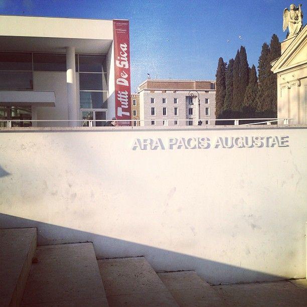 Giuseppe e Federica sono diretti verso il museo dell'Ara Pacis, il mitico monumento eretto in onore di Augusto, che ospiterà, fino al 28 aprile, la mostra in ricordo di Vittorio De Sica, maestro del Neorealismo e della commedia all'italiana! #tuttidesica #arapacis #roma