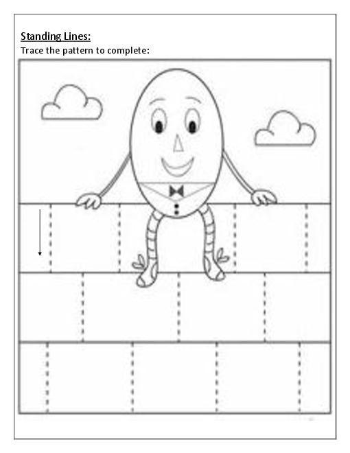 patterns standing lines worksheets worksheets. Black Bedroom Furniture Sets. Home Design Ideas