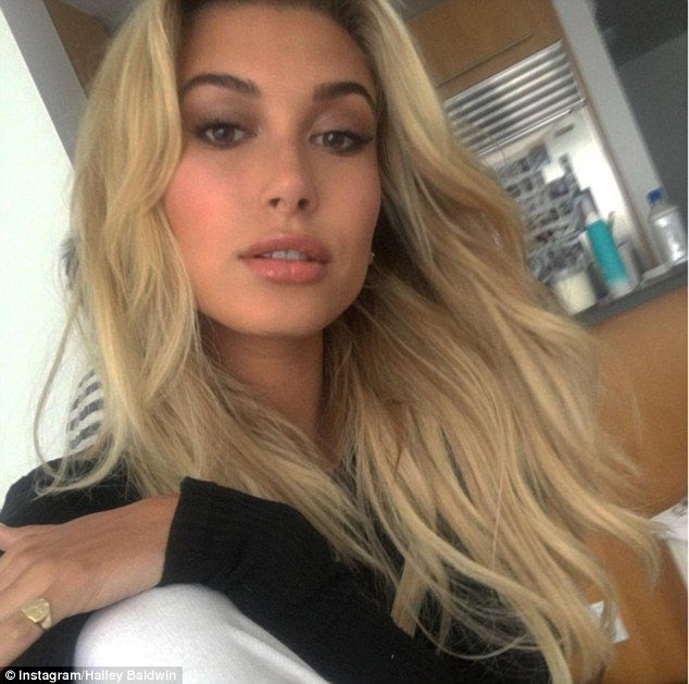 Glam before as well: Since her rise to fame, the cousin of fellow model Ireland Baldwin has usually sported her fail-safe shade of dark blonde